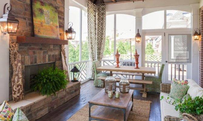 Vintage Wren Screened Porches Fireplaces