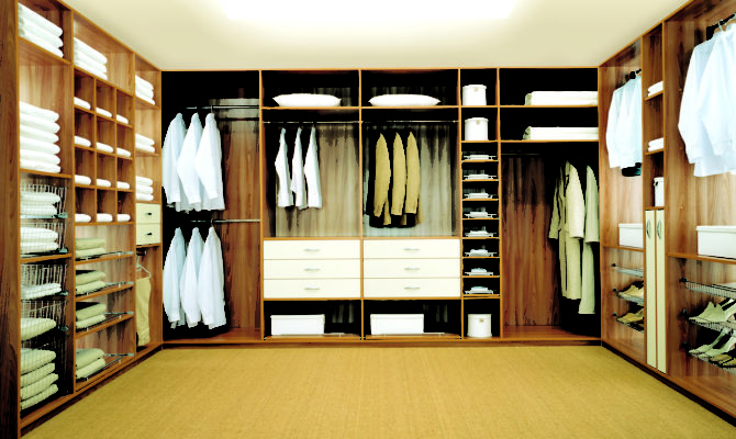 Walk Closet Dressing Room Shelves Drawers All Made