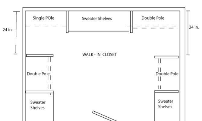 Walk Closet Plans