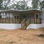 Warm Mobile Home Deck Design Steel Wall Applied