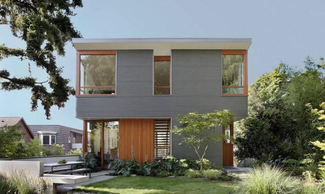 Warm Modern Home Concrete Wood Details Design Milk