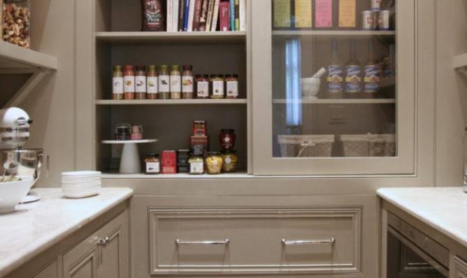 Warm White Kitchen Design Gray Butler Pantry Home