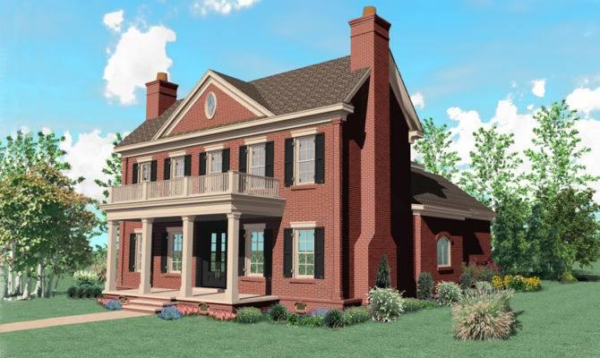 Warson Hill Georgian Brick Home Plan House