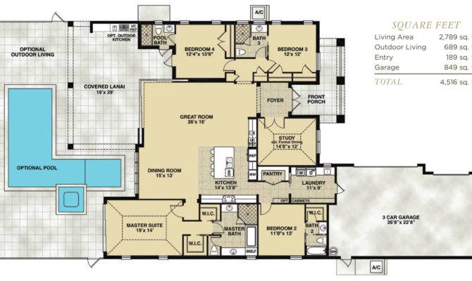 Waterfront Home Floor Plan