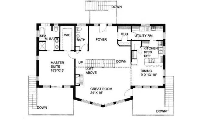 Waterfront House Plan First Floor Plans More
