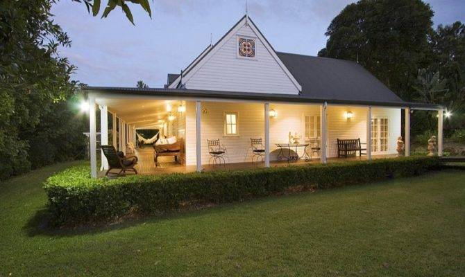 Weatherboard Colonial House Exterior French Doors Hedging