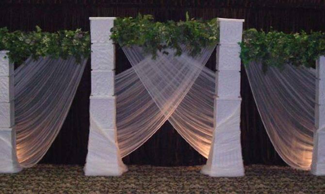 Wedding Backdrops Decorations Columns