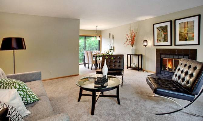 Wedgwood Split Level Contemporary Living Room