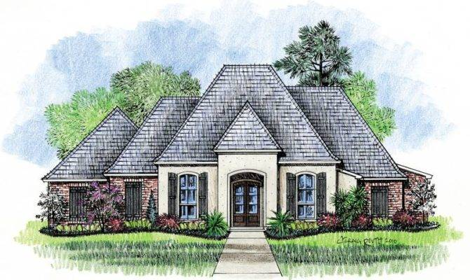 Welsh Country French Home Plans Louisiana House