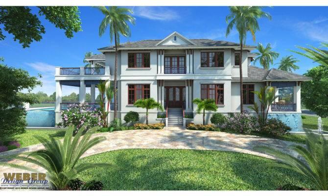 West Indies House Plan Mandevilla Weber Design Group