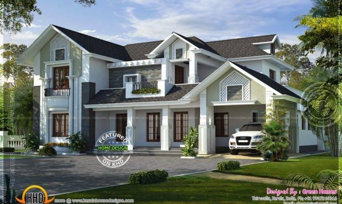 Western Style House Rendering Kerala Home Design