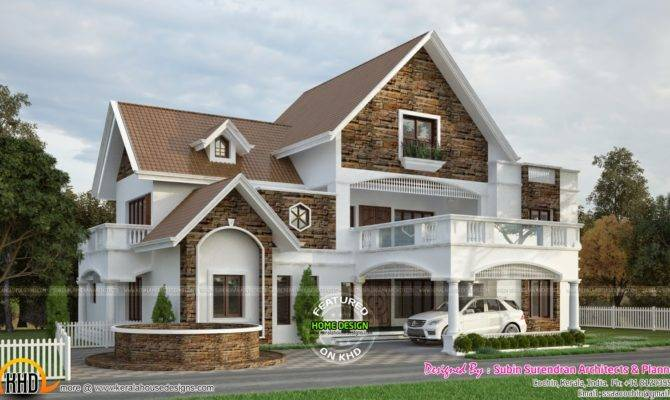Western Style Villa Devika Homes Keralahousedesigns