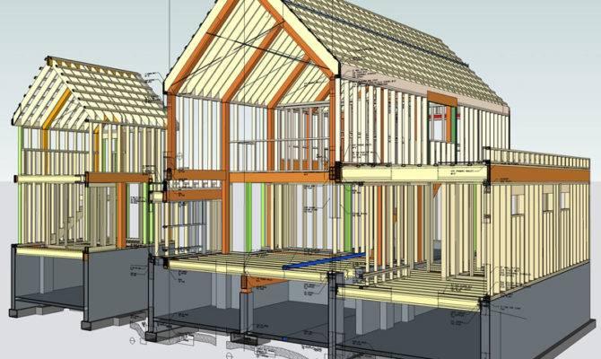 Whistler House Virtual Construction Cross Section Studio
