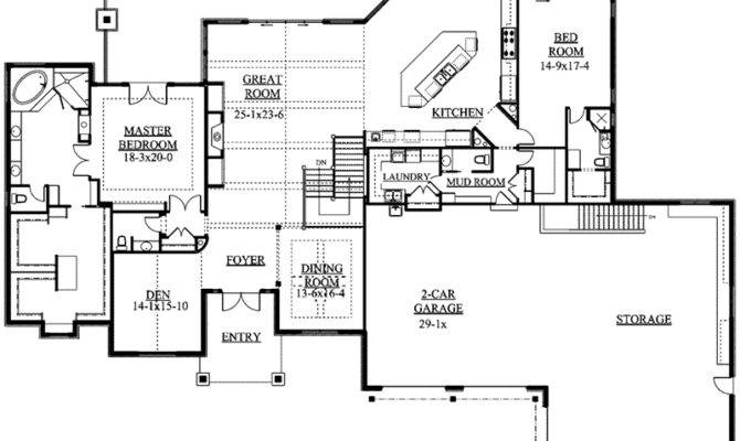 Whitby Mountain Ranch Home Plan House Plans