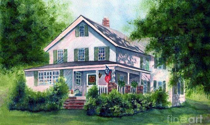 White Country Farmhouse Painting Janine