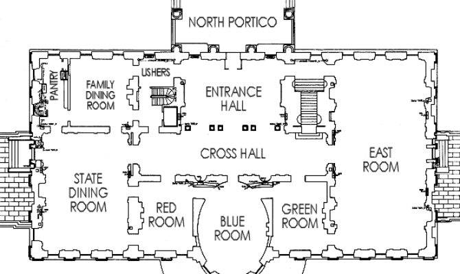 White House State Floor Plan Enchanted Manor