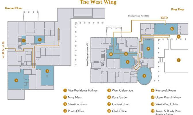 White House West Wing Map Mess Situation Room Rose
