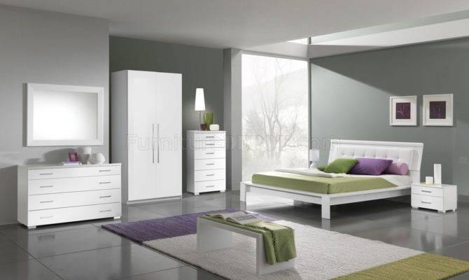 White Modern Bedroom Furniture Finish