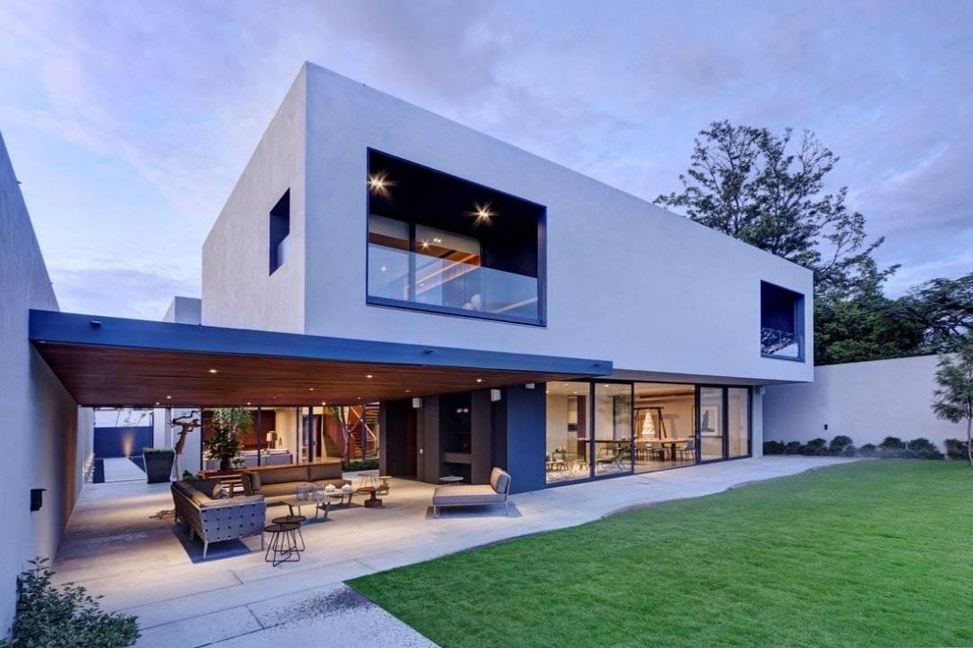 White Modern Concrete Home Plans House Plan