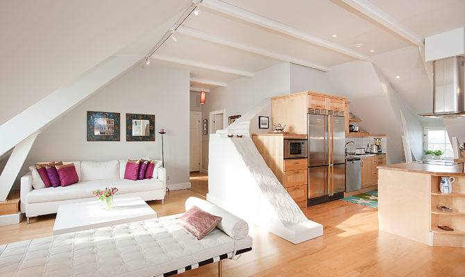 White Open Plan Living Room