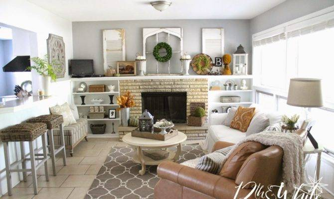 White Our Fall Hearth Room