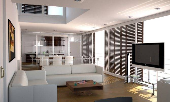 White Themed Beautiful Home Interior Design Wooden Floor House Plans 113466