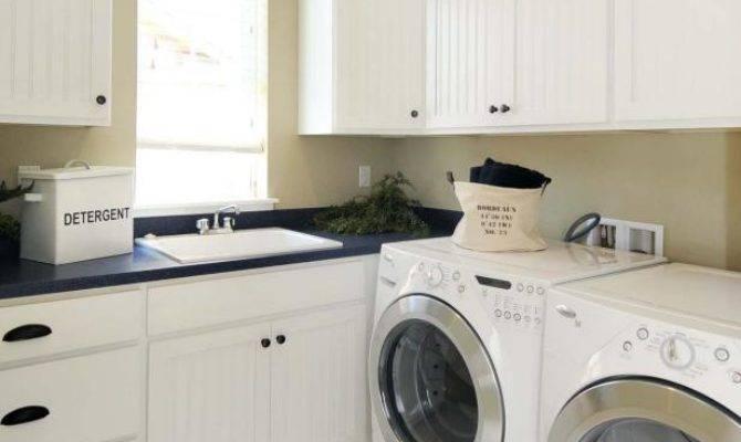 White Upstairs Laundry Room Hgtv