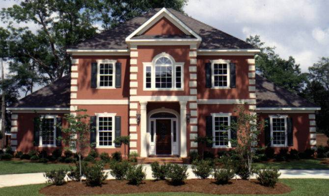 Whitemire Luxury Colonial Home Plan House