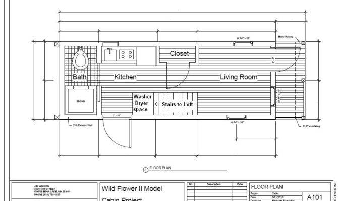 Wildflower Tiny House Floor Plan Green Cabins