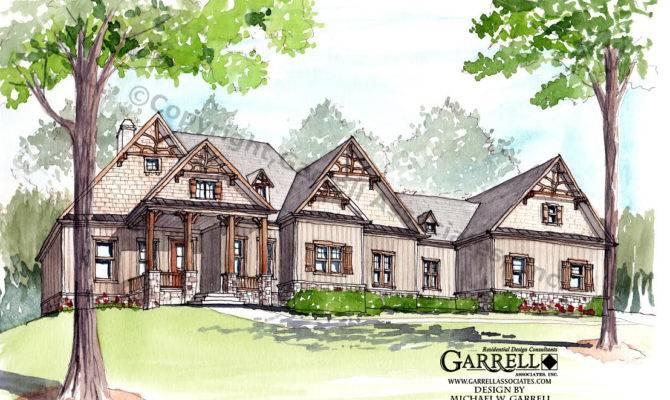 Wilks Cottage House Plan Front Elevation Rustic Plans