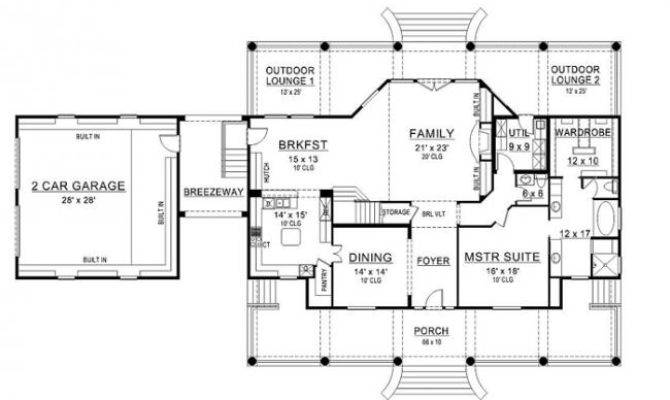 Williamsburg House Plan Colonial First Floor