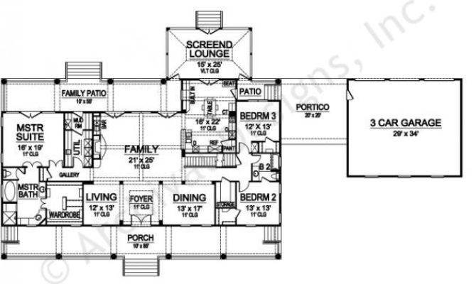 Williamsburg House Plan Southern First Floor