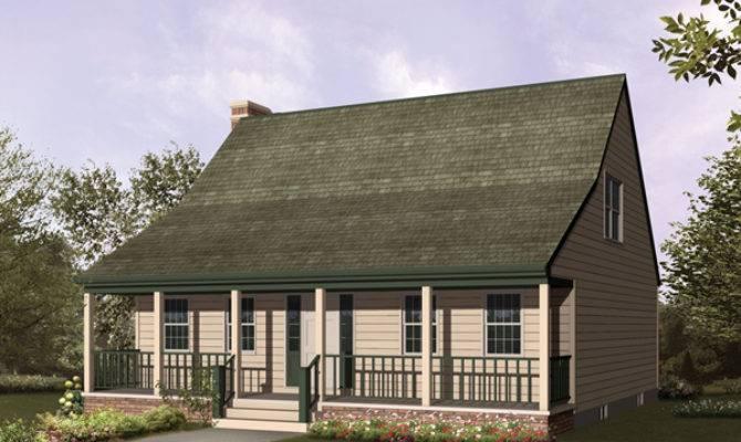 Winterfarm Acadian Saltbox Home Plan House
