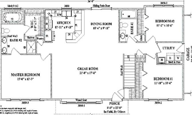 Ranch House Plans With Open Floor Plan
