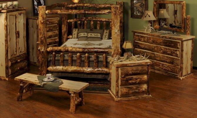 Wonderful Rustic Bedroom Interior Design Style Log