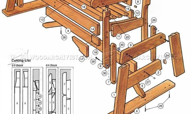 Wood Bench Glider Plans Quick Woodworking Projects
