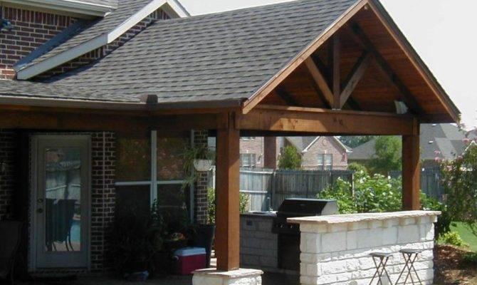 Wood Covered Porch Plans Bistrodre Landscape