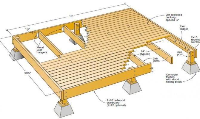 Wood Deck Plans Blueprints Plan