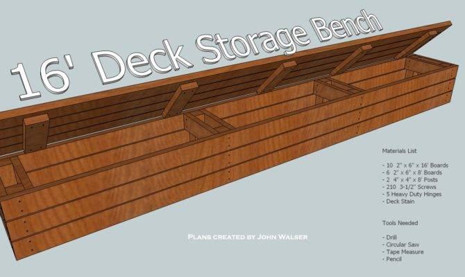 Wood Deck Storage Bench Plans
