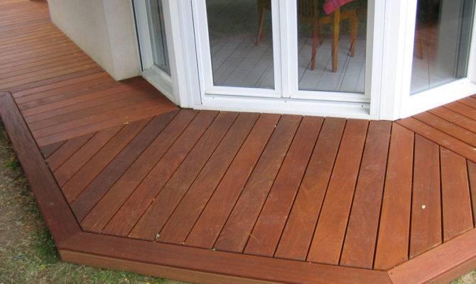 Wood Floor Terrace Swimming Beach