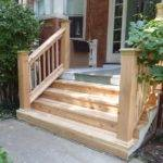 Wood Front Porch Stairs