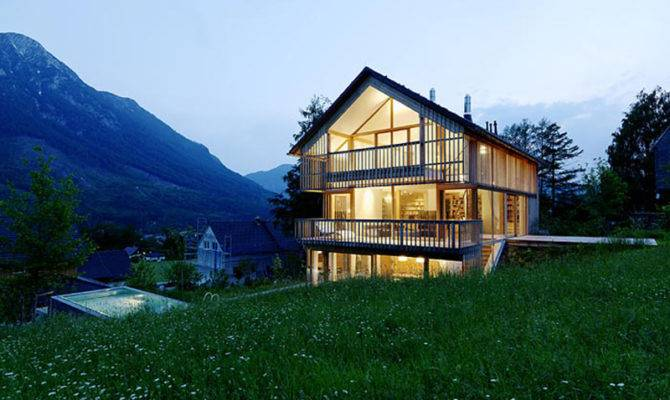 Wood Glass Mountain House Trio Terraces