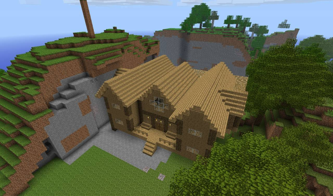 Wood House Minecraft Project House Plans 58752