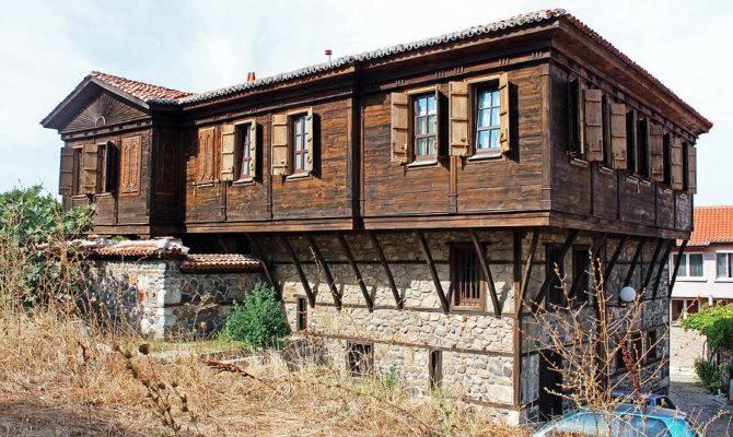 Wood Stone House Photograph Wooden Tony