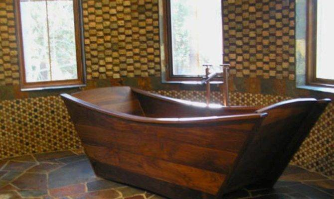 Wooden Bathtubs Delight Senses Your Home Decor