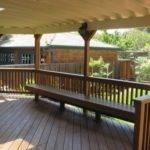Wooden Fence Bench Rear Veranda Design House