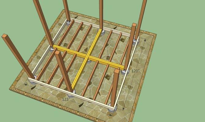 Wooden Gazebo Plans Howtospecialist Build Step