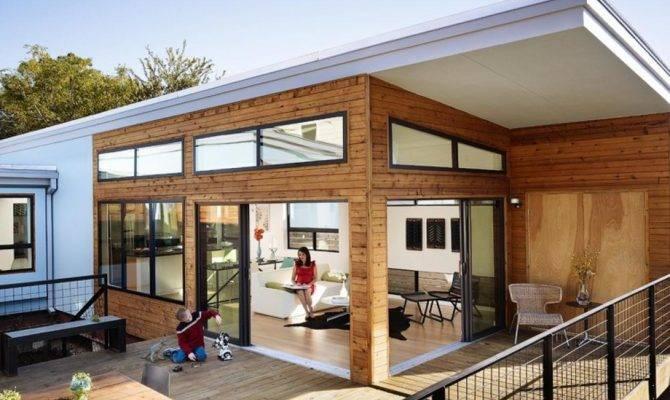 Wooden House Design Open Space Plan Terrace Floor
