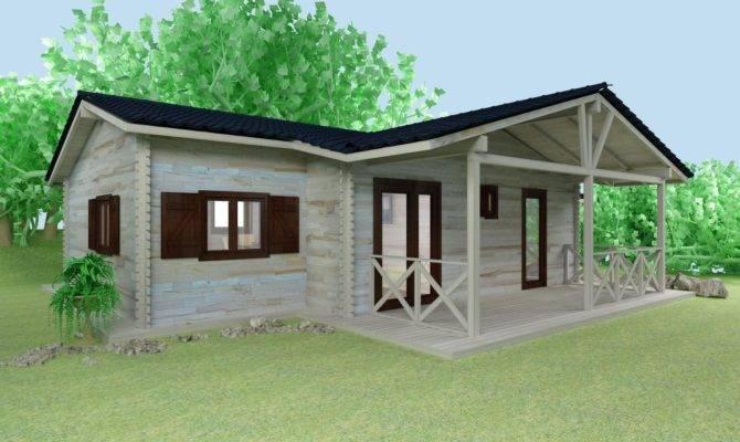 Wooden House Elevation Cabin Plans Design