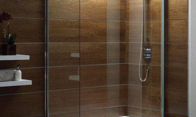 Wooden Interior Walk Shower Design Ideas Kitchentoday